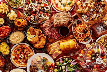 【期間限定★12/21~12/24】今年のクリスマスは、大満足のイタリアンブッフェで楽しいひと時を♪